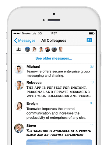 Sicheres Messaging