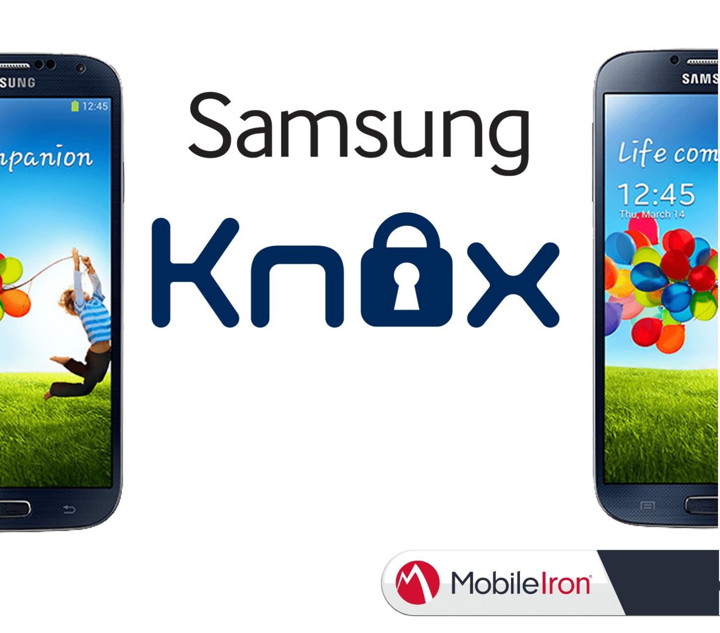Samsung KNOX, zusammen mit MobileIron