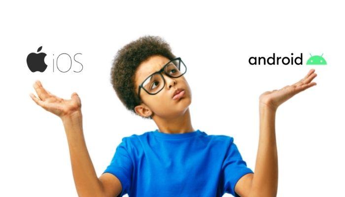 Android oder iOS Bild
